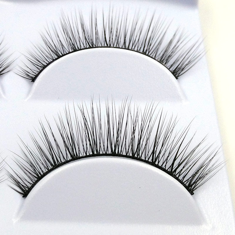 Hot! 3 Pairs Natural Soft False Eyelashes