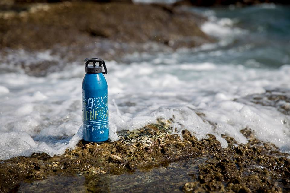 tentree water bottle nature river