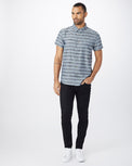 HEATHERED DARK DENIM_WOODGRAIN STRIPE AOP BLACK_gallery