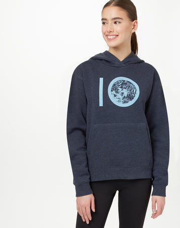 Image of product: W Floral AOP Logo Hoodie