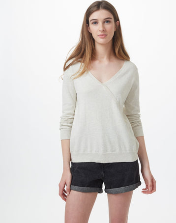 Image of product: W Highline Cotton Crossover Sweater