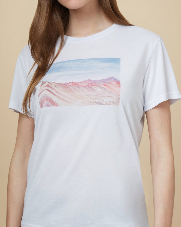 Image of product: W Peru Rainbow Mountain T-shirt