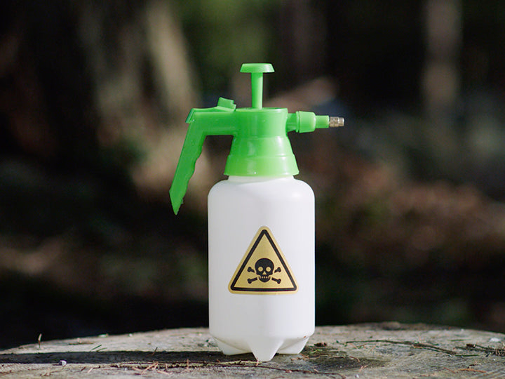 bottle of toxic chemicals