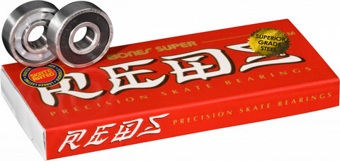 Bones Super Reds Skateboard Bearings 8pk
