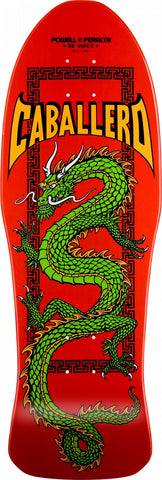 "POWELL PERALTA PRO STEVE CABALLERO CHINESE DRAGON SKATEBOARD DECK - RED 10"" x 30"""