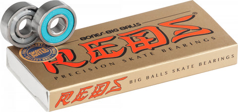 Bones Big Balls Reds Skateboard Bearings 8pk