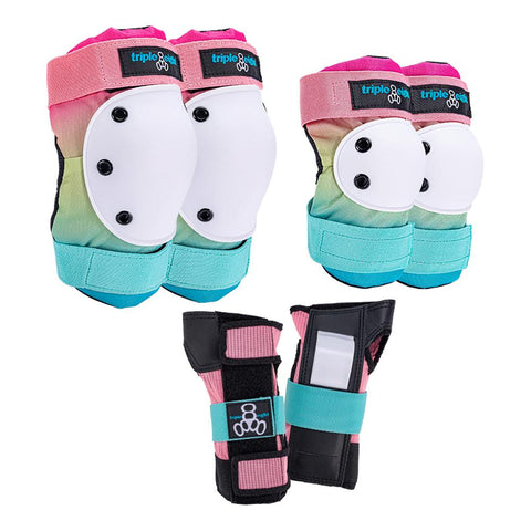 TRIPLE 8 SAVER SERIES - COLOR COLLECTION - 3 Pad Roller Derby Pack