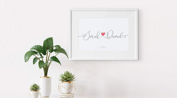 The Perfect Personalised Wall Print Gift For Her