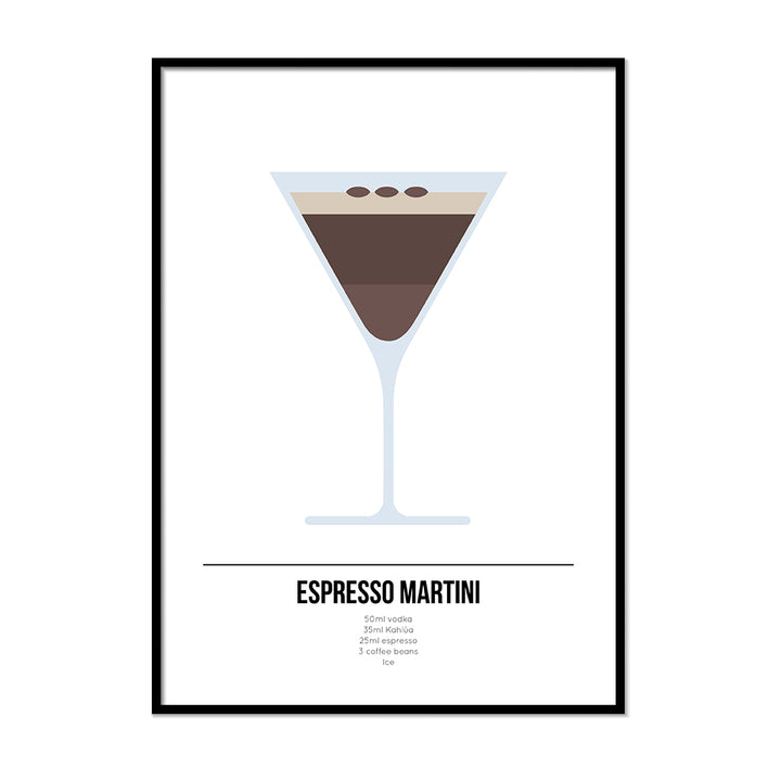 Espresso Martini Cocktail Poster - Printers Mews