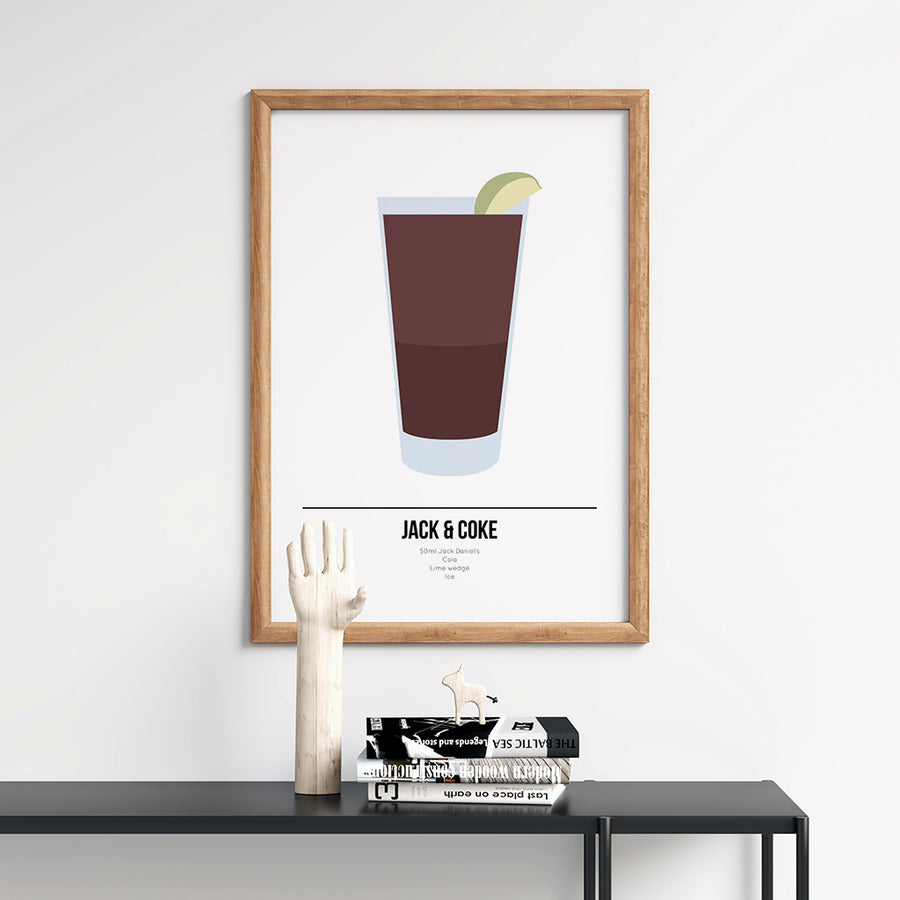 Jack And Coke Cocktail Print - Printers Mews