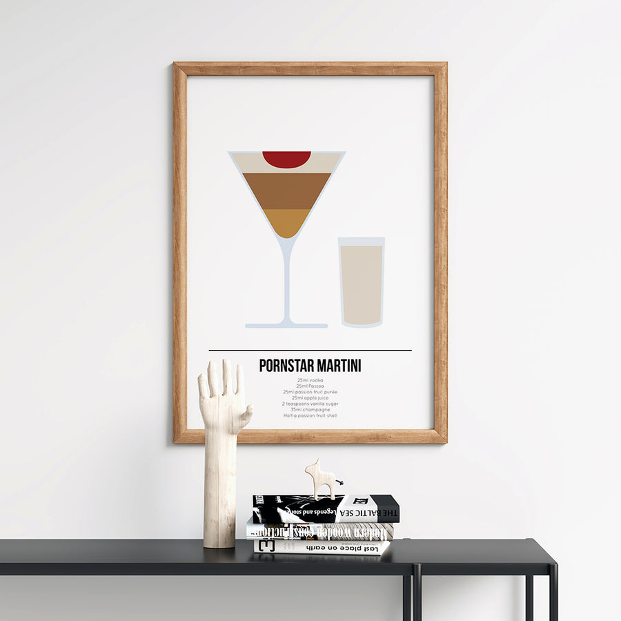 Pornstar Martini Cocktail Poster - Printers Mews