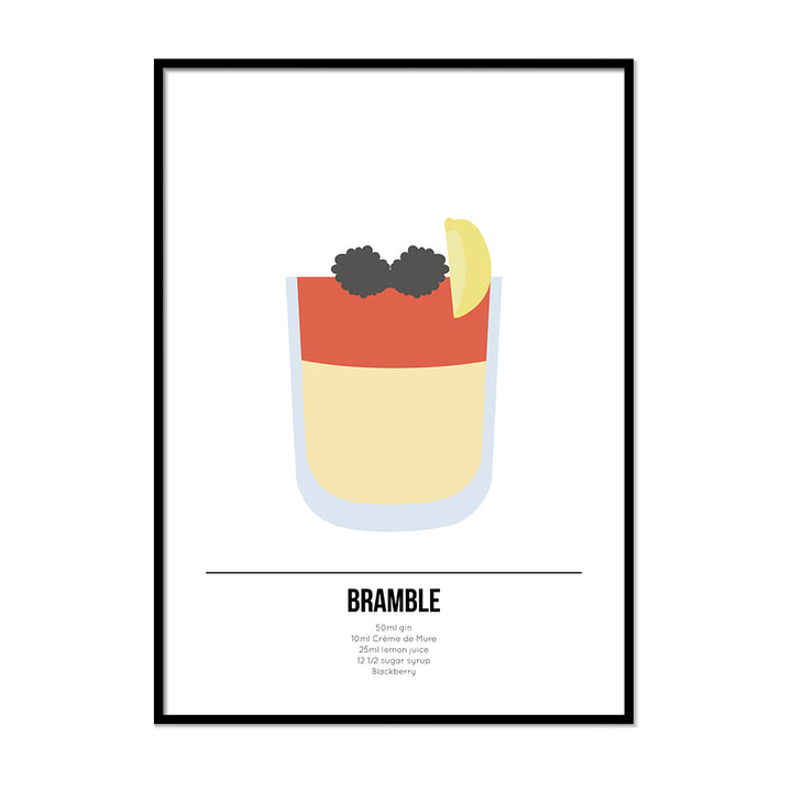 Bramble Cocktail Poster - Printers Mews