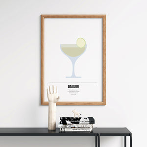 Daiquiri Cocktail Print - Printers Mews