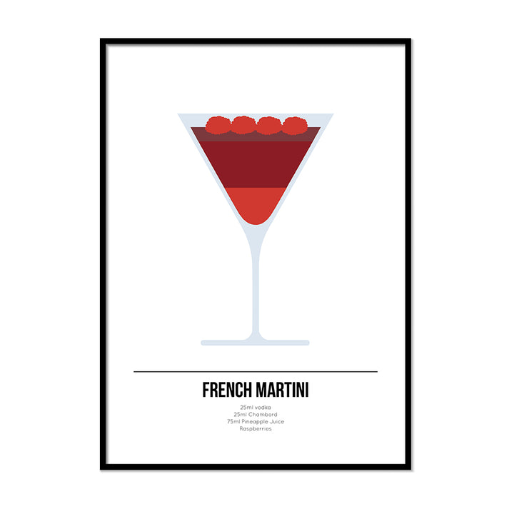 French Martini Cocktail Print - Printers Mews