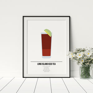 Long Island Iced Tea Cocktail Print - Printers Mews