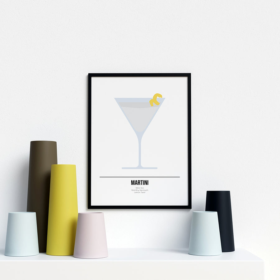 Martini Cocktail Print - Printers Mews