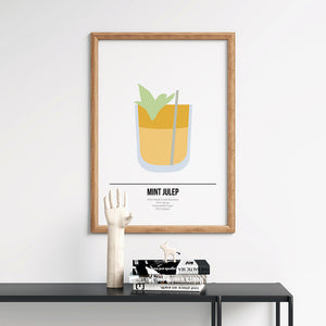 Mint Julep Cocktail Poster - Printers Mews