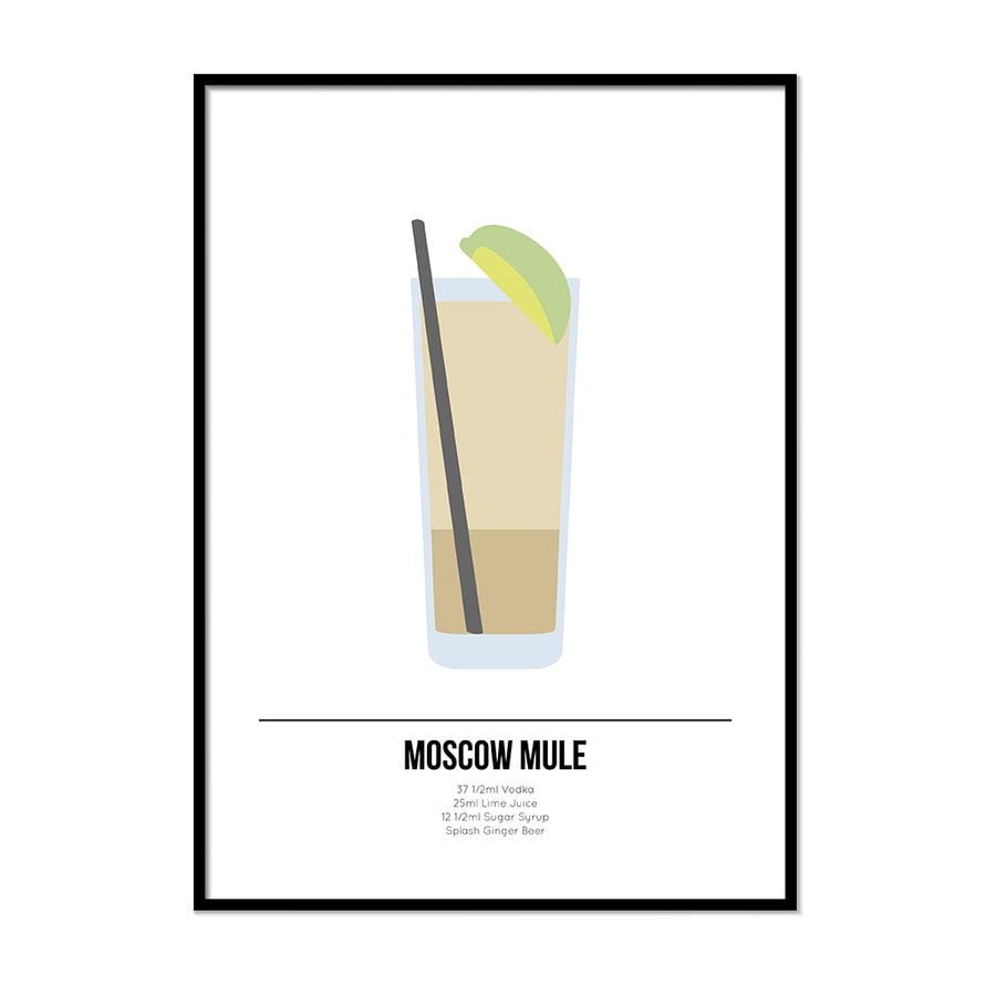 Moscow Mule Cocktail Poster - Printers Mews