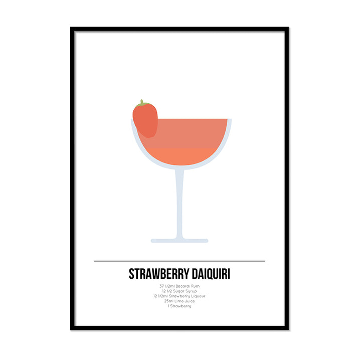 Strawberry Daiquiri Cocktail Print - Printers Mews