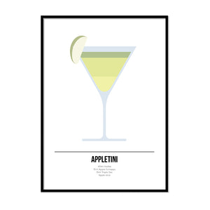 Appletini Cocktail Print - Printers Mews