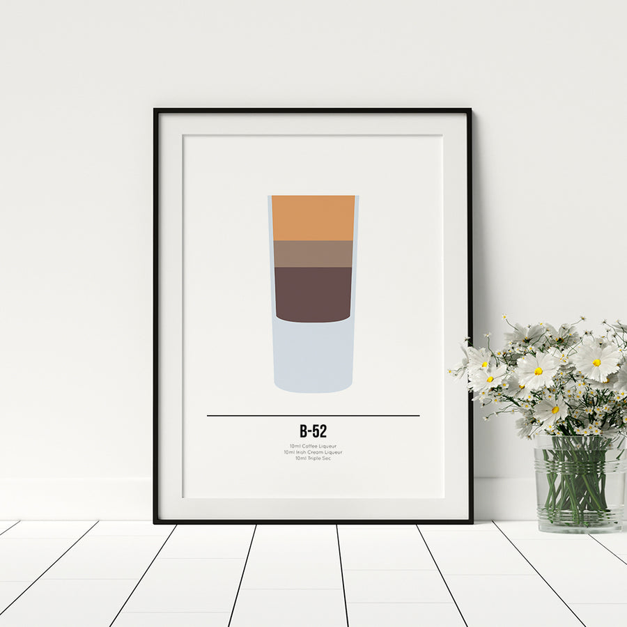 B52 Cocktail Poster - Printers Mews