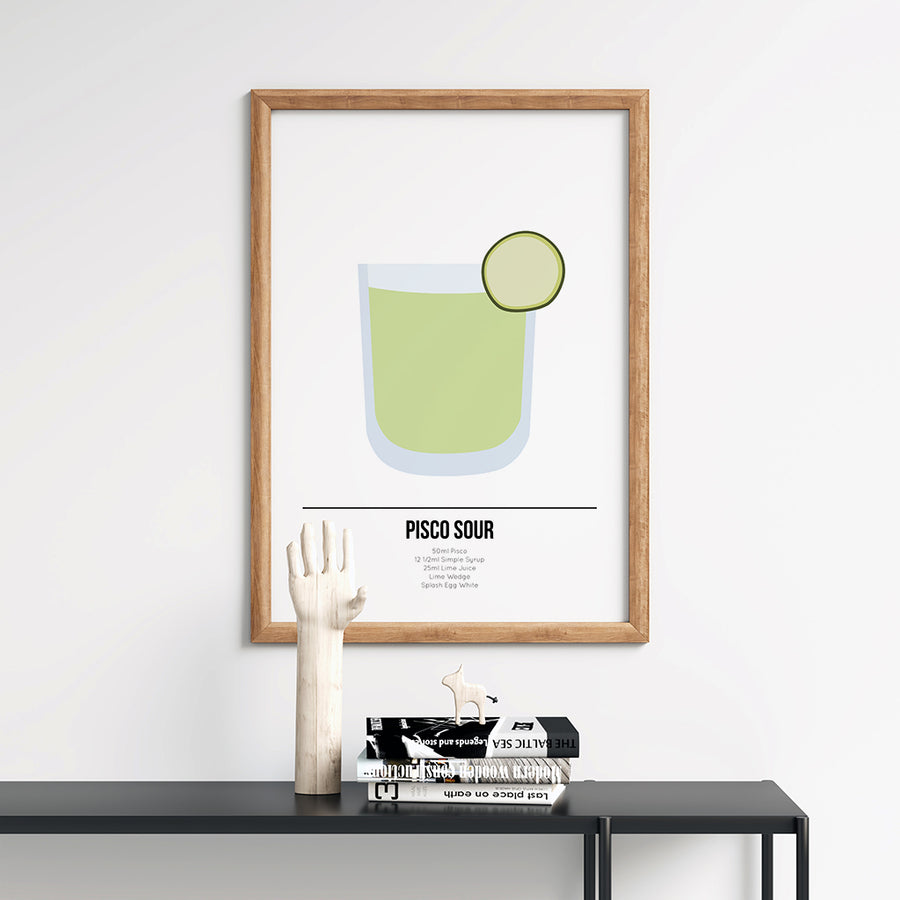 Pisco Sour Cocktail Poster - Printers Mews