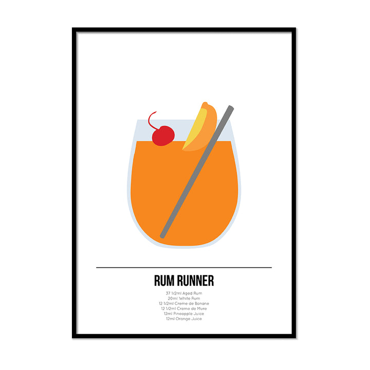 Rum Runner Cocktail Poster - Printers Mews