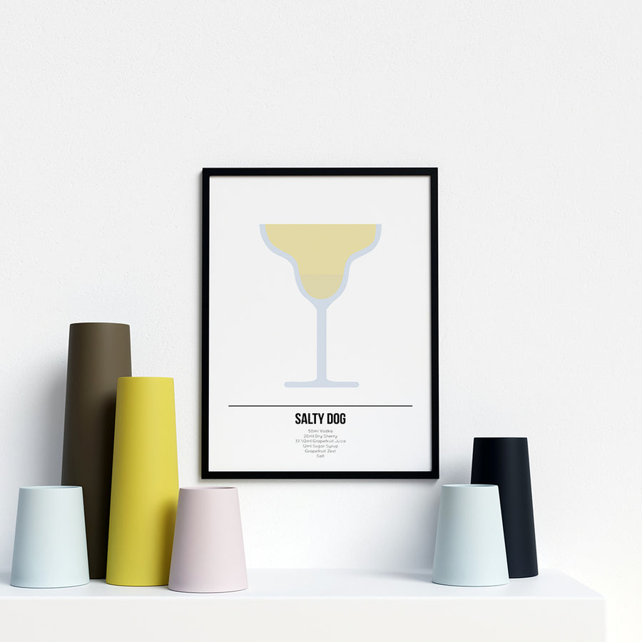 Salty Dog Cocktail Poster - Printers Mews