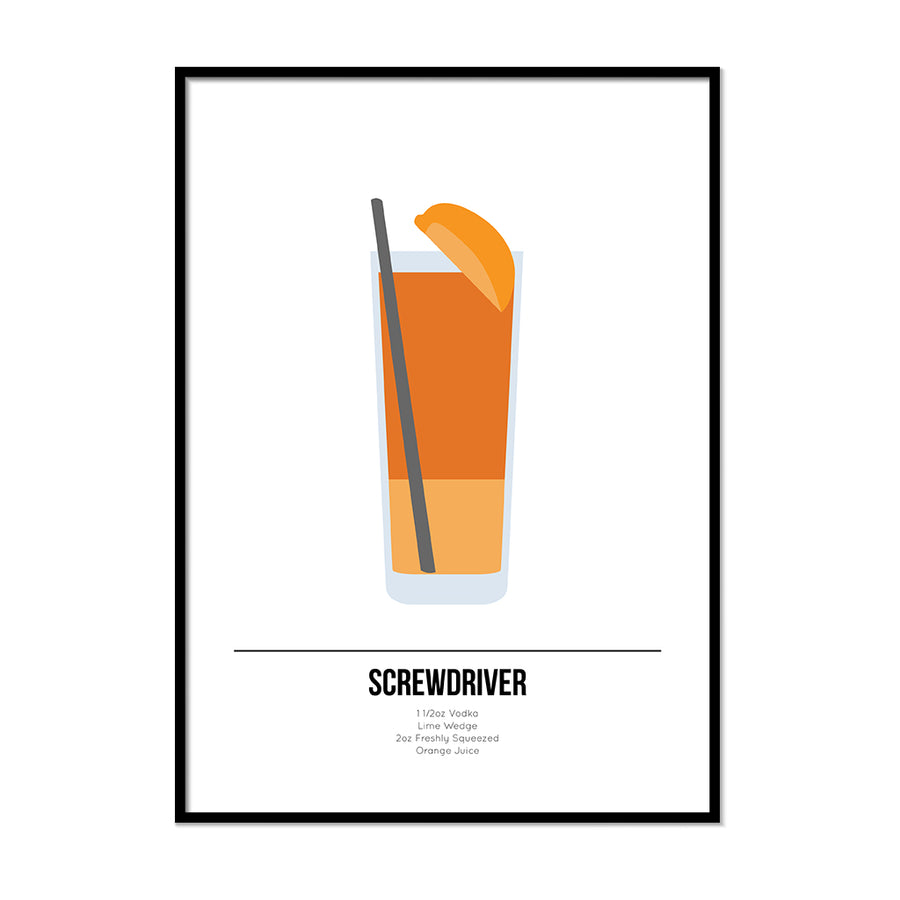 Screwdriver Cocktail Print - Printers Mews