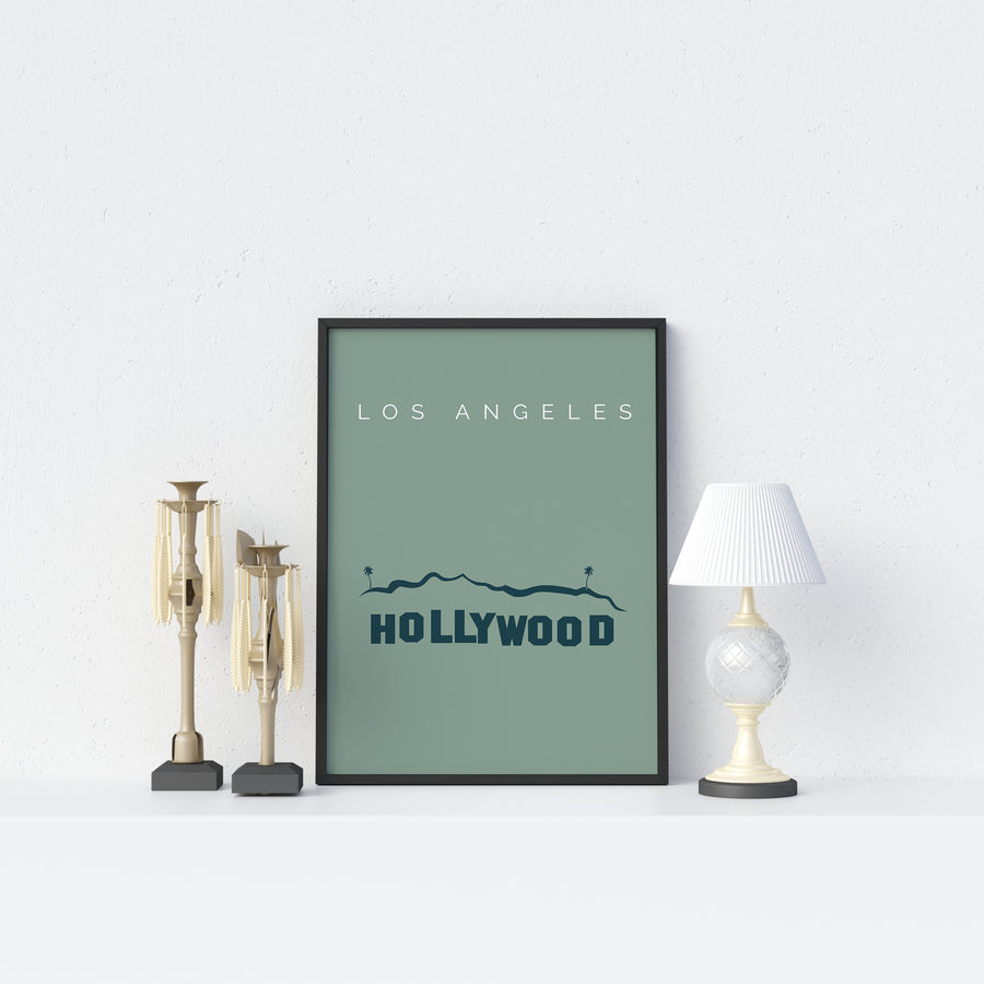 Los Angeles Hollywood Sign Print - Printers Mews