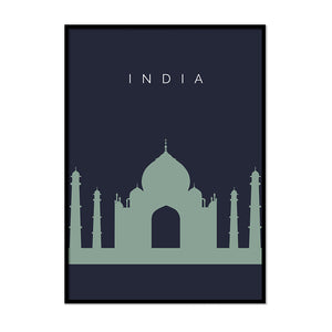 India Taj Mahal Travel Poster - Printers Mews