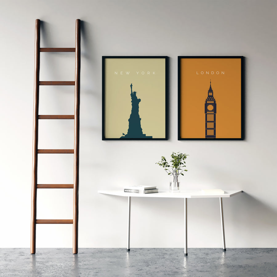 London Bigben Landmark Print - Printers Mews