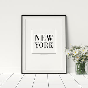New York Poster - Printers Mews