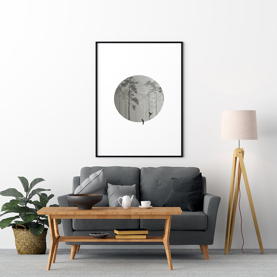 Circle forest Poster - Printers Mews