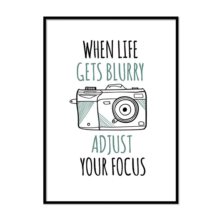 Adjust Your Focus Poster - Printers Mews
