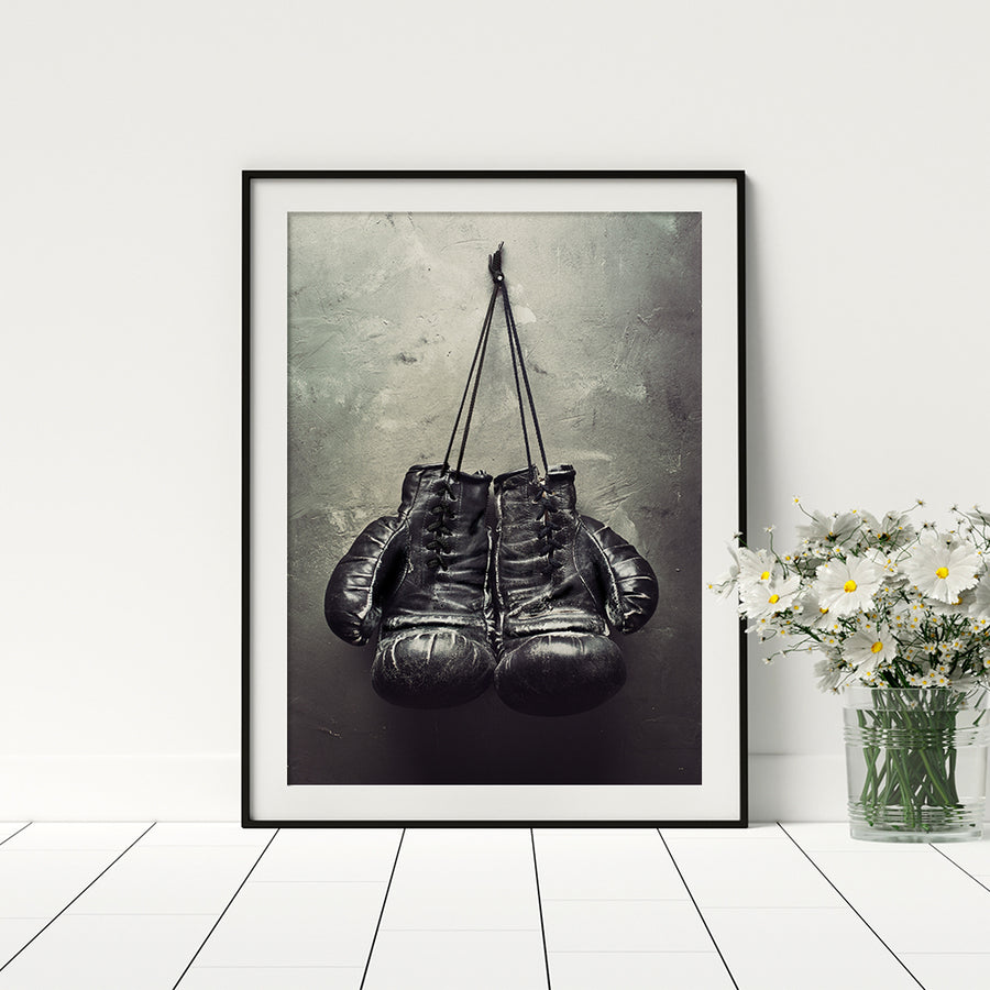 Boxing Gloves Poster - Printers Mews