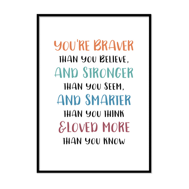 You're Braver Than You Believe Poster