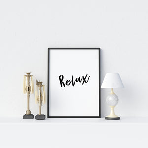 Relax Poster - Printers Mews