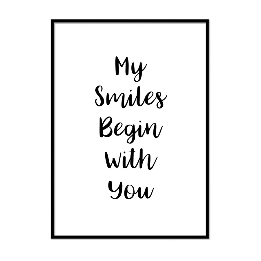 My Smiles Begin With You Poster - Printers Mews