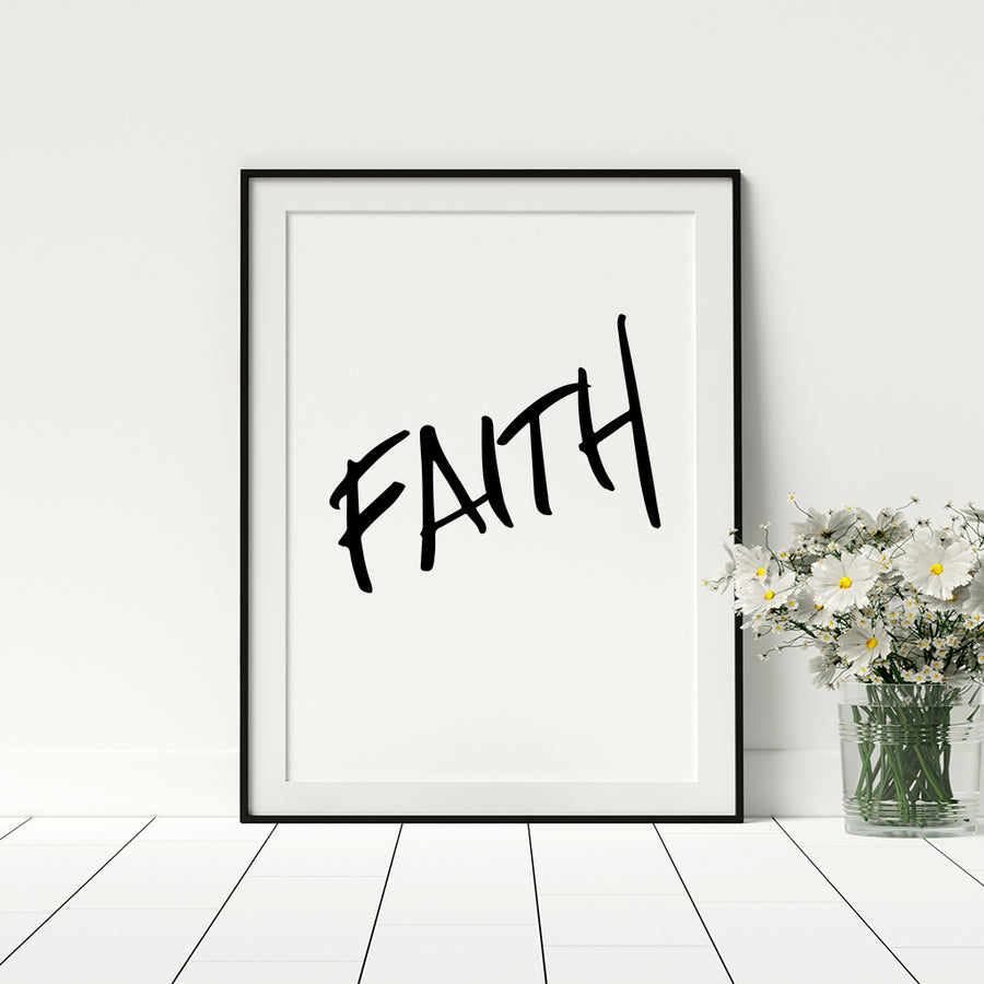 Faith Poster - Printers Mews