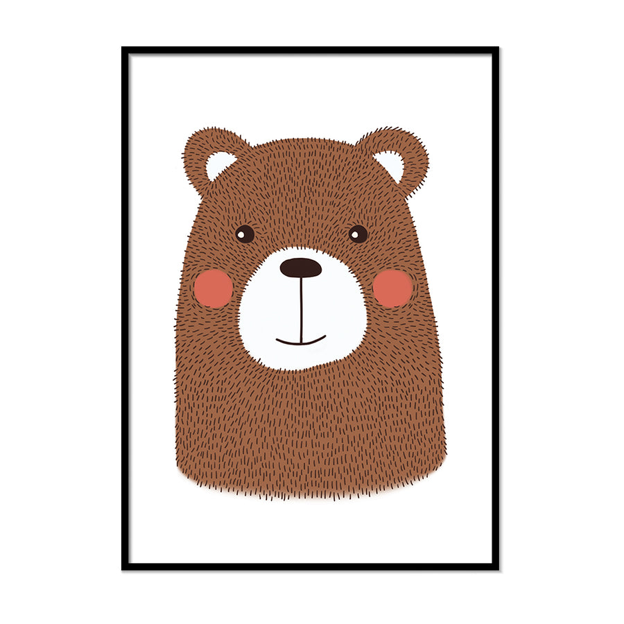 Nursery Animal Prints Bear