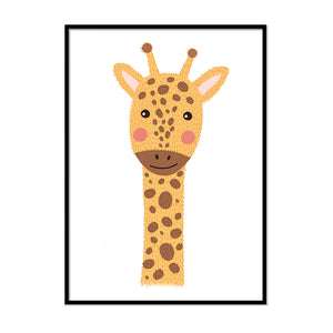 framed baby animal prints for nursery Giraffe