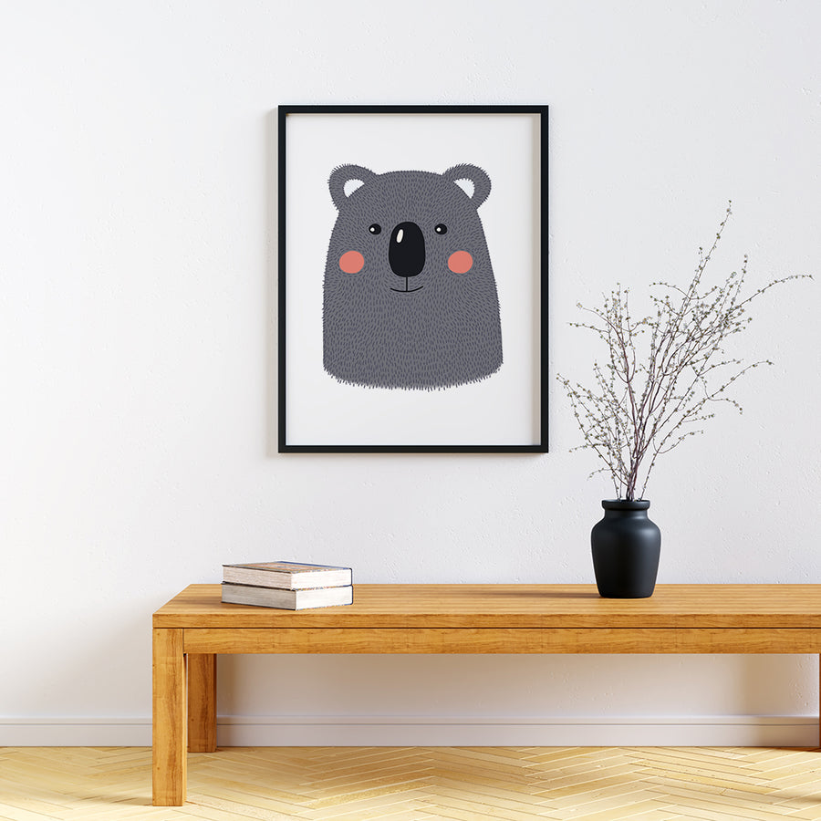 framed baby animal prints for nursery Koala