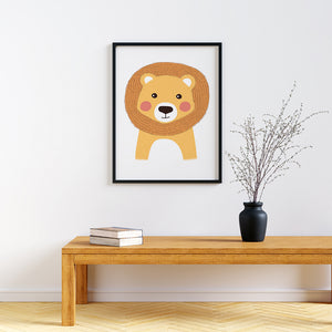 framed baby animal prints for nursery Lion