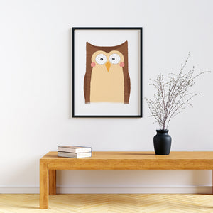 woodland animal nursery prints Owl