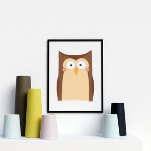 Owl Jungle animal prints for nursery