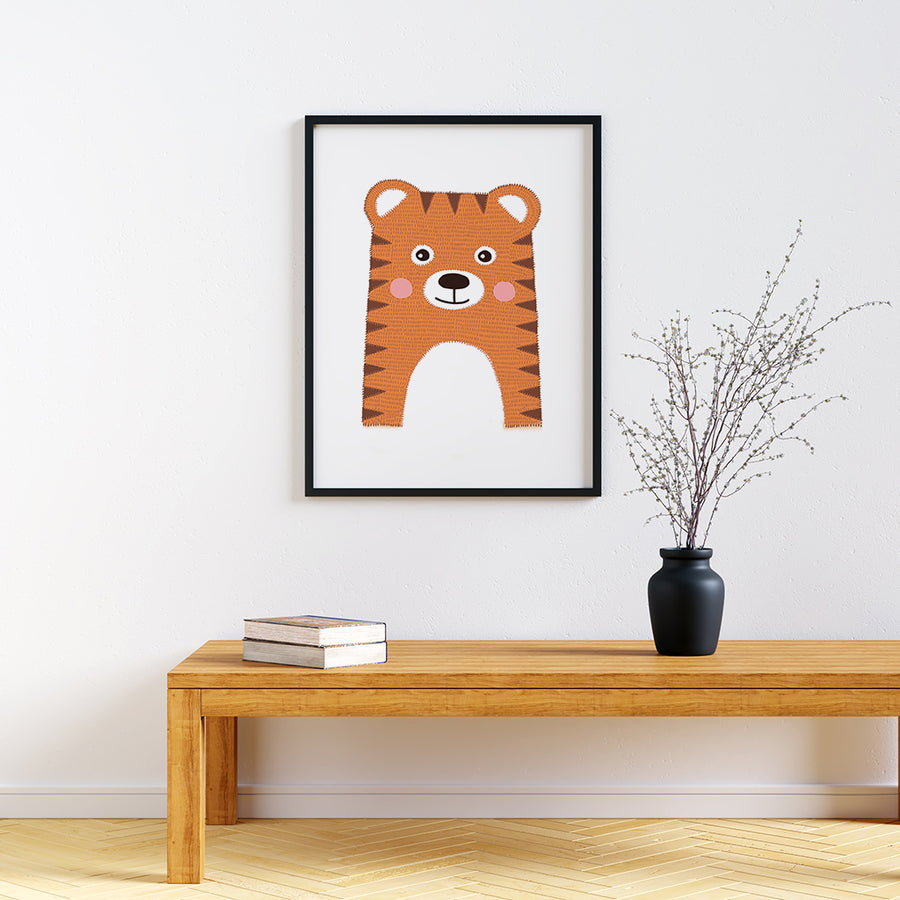 Scandi nursery print Tiger