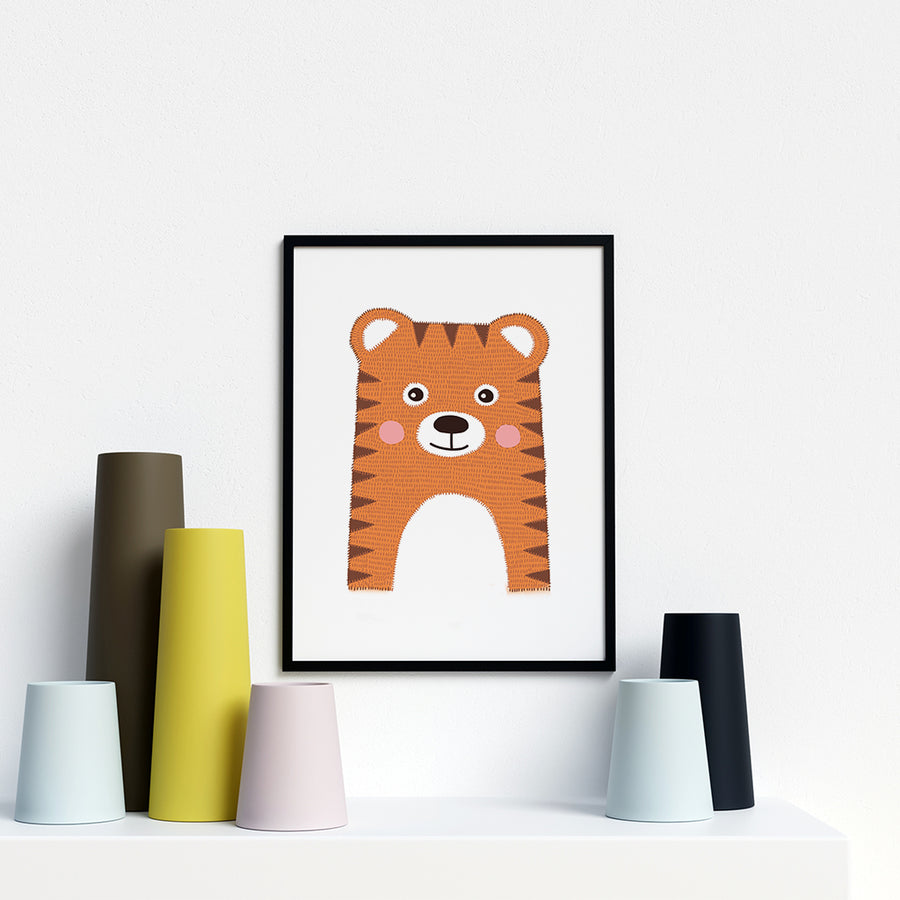 Tiger Baby Animal framed prints