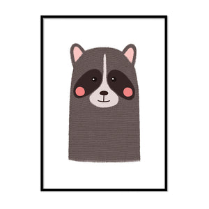 Nursery Animal Prints Raccoon