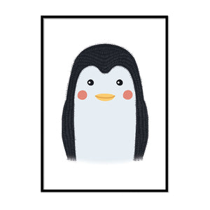 framed baby animal prints for nursery Penguin